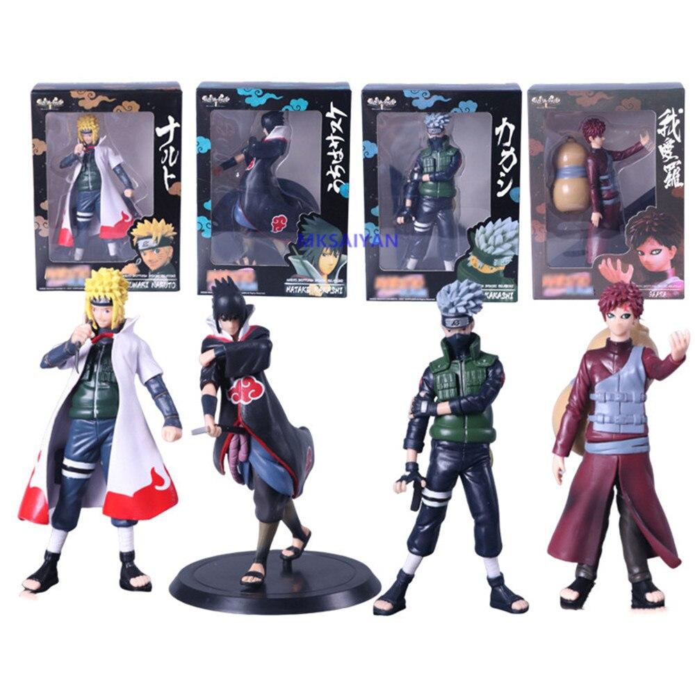 Naruto Action Figures Hatake Kakashi Uchiha Sasuke Anime Gaara Namikaze  Minato Figurine Shippuden Model Toys PVC Collector Doll|Action & Toy Figures