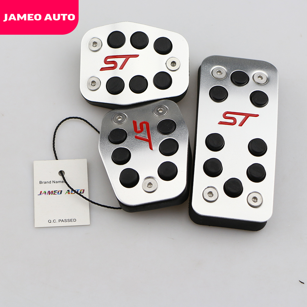 ST Style Alloy Foot Pedal Covers For Car Ford Focus Kuga Escape MK2 MK3 MK4 RS