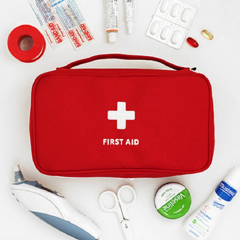 First Aid Bag Portable Water Resistant Zipper Medical Storage Pouch Home Travel Emergency Supplies Hot