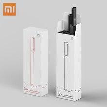 Xiaomi mijia caneta de assinar, canetas super duráveis para escrita de 0.5mm, canetas de assinatura suave, refil mikron da suíça, impressão japonesa tinta de tinta