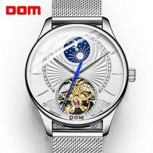 Dom relógios mecânicos homens de negócios relógio à prova dwaterproof água relógio masculino marca luxo moda relógio de pulso relogio masculino M-1260D-7M