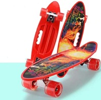 Four Wheel Skateboard Children Teenager Baby Universal Scooter Printed Hand Fish Boards Manufacturers Direct Selling