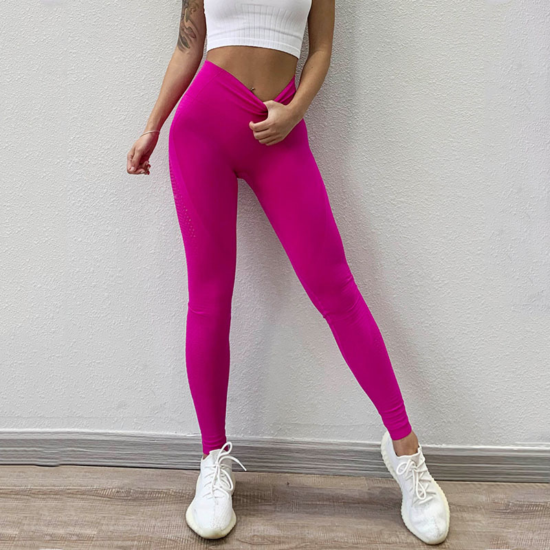 NORMOV Solid Women Leggings Seamless High Waist Elastic Push Up Hollow Out Ankle Length Spandex Leggin Casual Feminino Leggings