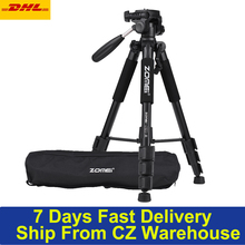 ZOMEI Q111 statyw lekki przenośny podróży aparat do statywu ze stopu aluminium do telefonu dla Canon Nikon Sony DSLR Smartphone