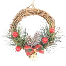 Christmas Mini Wreath Pine Cone Berries Woodland Rustic Xmas Decor Table Centerpiece Car Hang decorations