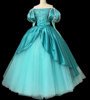 Custom Made Top Quality The Little Mermaid Ariel Princess Cosplay Costume Dress For Adult Women Halloween Party