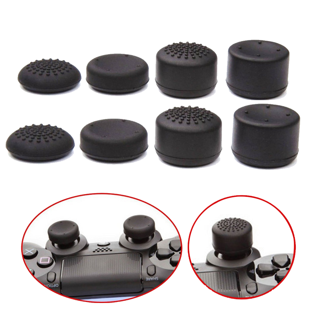 Bevigac 8Pcs  Soft Silicone Heightened Anti-Slip Thumb Grip Stick Cap Cover Case Skin For Sony Play Station 4 PS 4 PS4 Accessory