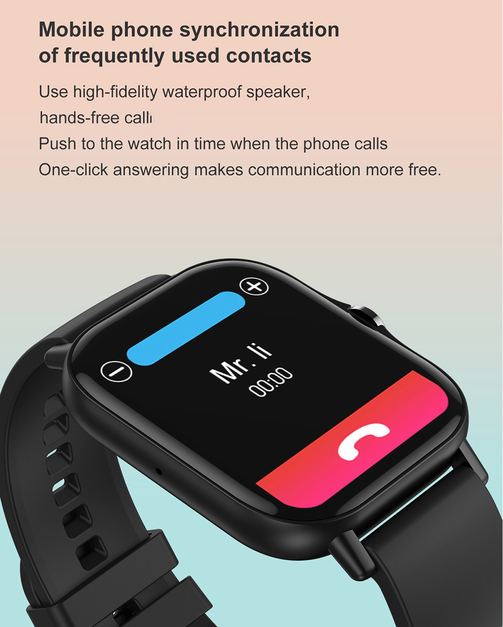 H32f910a49d104a029e60ec0da390bb50Q For Xiaomi IOS Apple Phone 1.78inch Smart Watch Android Men IP68 Waterproof Full Touch Woman Smartwatch Women 2021 Answer Call