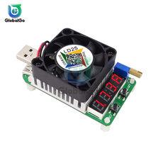 LD25 LD35-Medidor de resistencia de capacidad de batería de descarga electrónica inteligente, USB, 4A, 5A, 25W, 35W, amperímetro Digital rojo, voltímetro