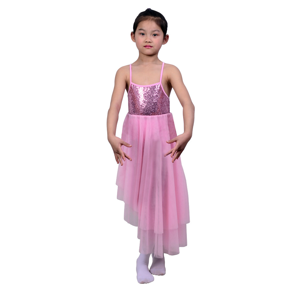 Hot Models Children's Day Girls Performance Clothing Ballet Dance Skirt Tutu Sequin Mesh Skirt