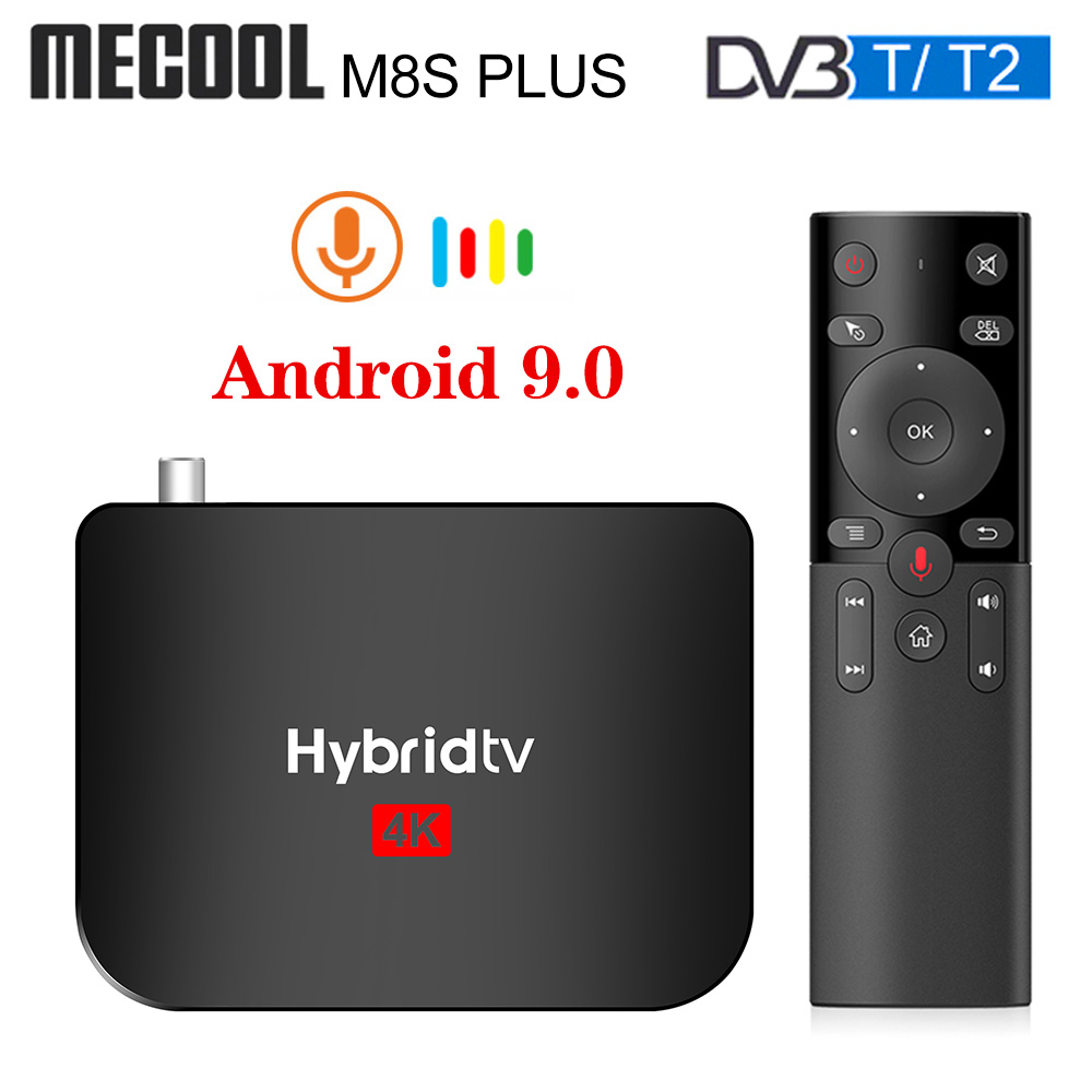 Mecool M8S PLUS Android 9.0 DVB-T2 Hybridtv TV Box Amlogic S905X2 Quad Core 2GB 16GB 4K M8S PLUS DVB T2 Terrestrial Combo Box