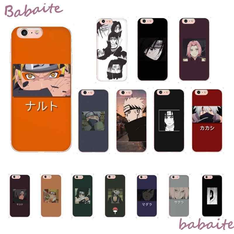 Babaite Naruto serin anime estetik renkli sevimli telefon kılıfı için iPhone 8 7 6 6S artı X XS MAX 5 5S SE XR mobil kapak