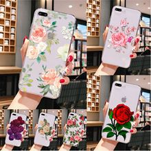Rose Flower Floral Girl  TPU Soft Silicone Phone Case Cover for iPhone 8 7 6 6S Plus 5 5S SE XR X XS MAX 11 pro max webbedepp jack skellington silicone soft case for iphone 5 se 5s 6 6s plus 7 8 11 pro x xs max xr