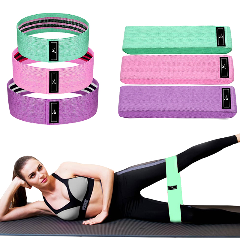 Hip Circle Bands Anti Slip Resistance Band Booty Fitness Elastic Bands Cotton Workout Yoga Band Exercise Training Squat