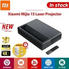 Xiaomi 1S projektor 4K TV Full HD 3D Android projektory laserowe telefon bezprzewodowy HDR 2GB 16GB 2000ANSI BT WiFi 150 cala ALPD HDMI