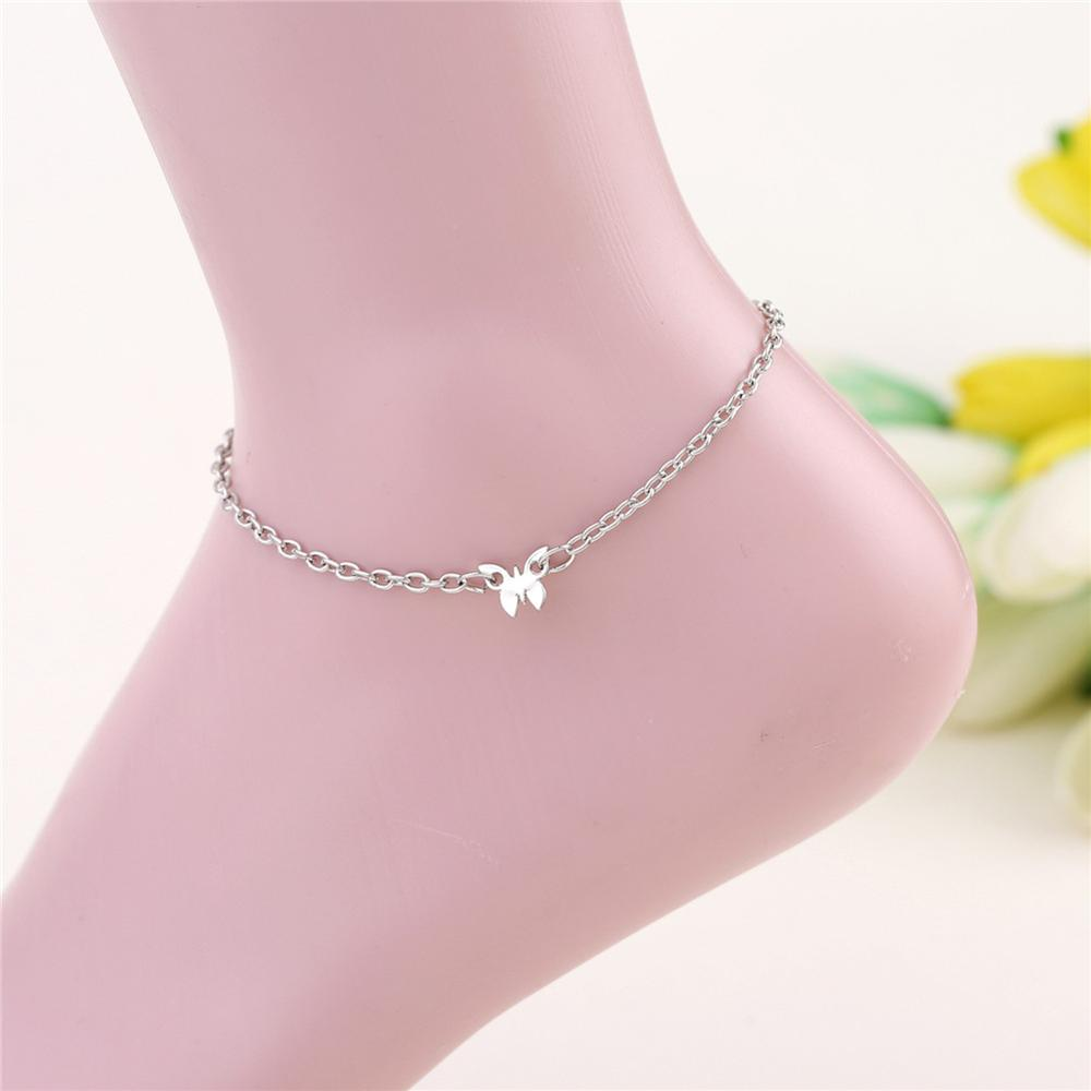 Waterproof Wax Thread Hand-knitted Anklet for Women Round Pendant Fashion Simple Beach Jewelry 5
