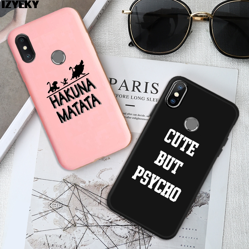 Silicone Soft Cover Case For <font><b>Samsung</b></font> galaxy A50 <font><b>A10</b></font> A20 A30 A40 A60 A70 A80 M10 M20 M30 M40 S10 S9 S8 Plus Hakuna Matata <font><b>Coque</b></font> image