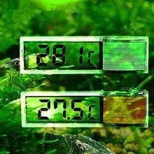 New LCD 3D Digital Electronic Measurement Fish Tank Temp Meter Aquarium Thermometer Gold