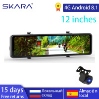 SKARA 4G Dash Camera 12 Rearview Mirror Car DVR Wifi Android 8.1 GPS Auto Registrar 2+32G FHD 1080P Driving Video Recorder