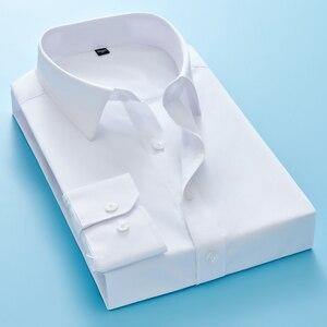 Image 5 - New High Quality 100% Cotton Mens Oxford Shirts Long Sleeve Formal Business Smart Casual Shirt Social Button Down Dress Shirt