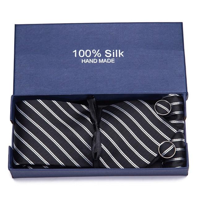 Ensemble cravate de mouchoir en soie 35 Style 7.5cm   Ensemble de foulard, imprimé Floral avec rayures, cravates, accessoires formels pour cadeau de mariage