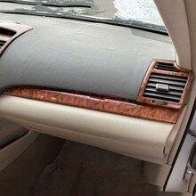 Para Toyota Camry 2006  2011 Color de madera salpicadero Interior Trim cubierta de ventilación de aire de coche accesorios