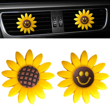 1pcs Car Air Vent Clip Perfume Sunflower Fragrance Scent Diffuser Accessories