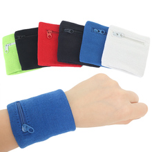 1 pc Zipper Wrist Wallet Pouch Running Sports Arm Band Bag For Key Card Storage Bag Case Wristband Sweatband Wrist Bags