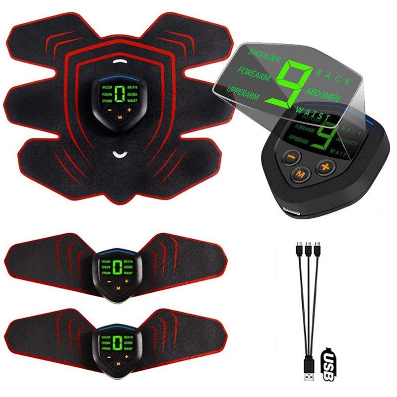 Formador de Ginástica Estimulador Muscular Abdominal Vibração Elétrica Fitness Massageador Ems Eletro Estimulação Eletroestimulação