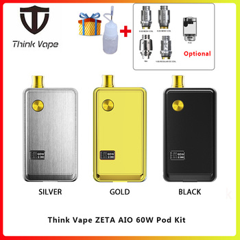 E Cigarette Pod Kit ThinkVape ZETA AIO 60w Vape mod &3ml pod for DTL & MTL starter vs Orion DNA