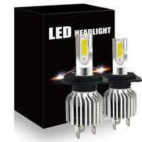CNSUNNYLIGHT 2pcs H4 9003 HB2 Hi/Lo Bi Fascio LED Del Faro Lampade 72W 8000LM/pair 6000K Bianco Luci Auto Sostituire Automobile Lampadine