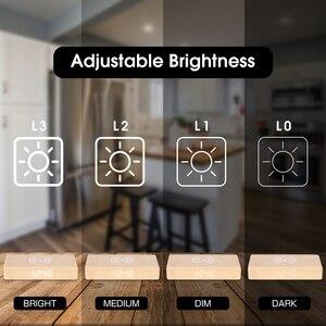 Image 2 - JINSUN Wecker mit Handy Drahtlose Ladegerät LED Moderne Digitale Uhr mit Qi Lade Elektronische Desktop Uhr Despertador