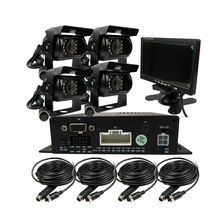 "DIY 720P AHD 4CH 256GB Car Truck Mobile AHD DVR Video Recorder Rear View CCTV Camera System 7"" Monitor Free Shipping"