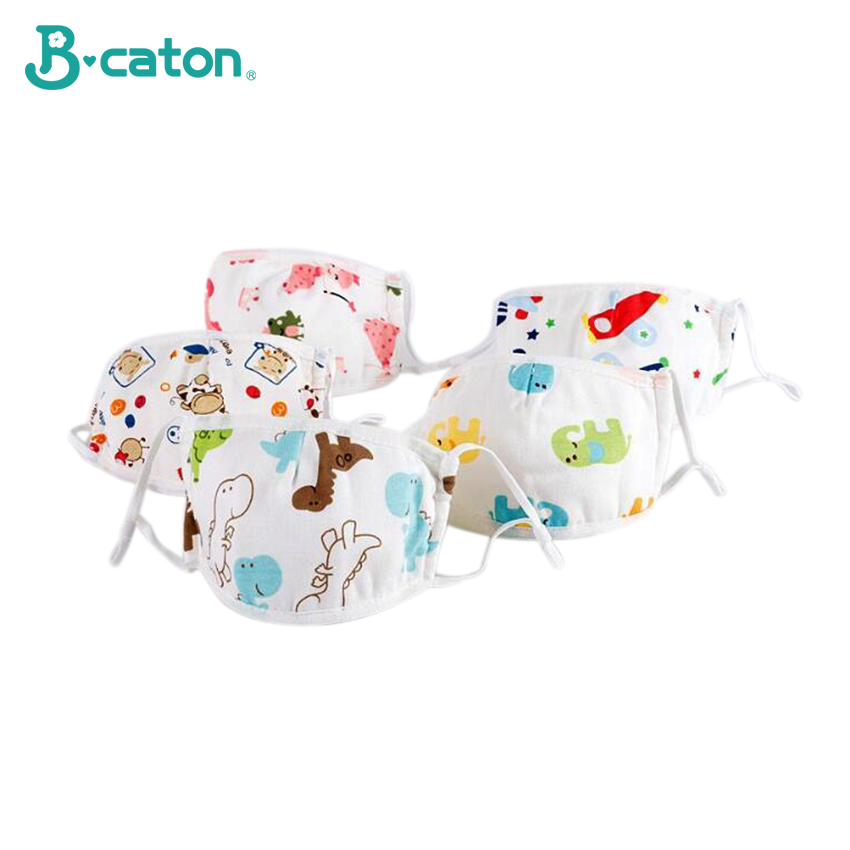 Children's Cotton Gauze Mask 5 Layers Of  Baby's Mask Anti Haze Anti Droplet Air Permeability Adjustable Size Free Mask Gasket