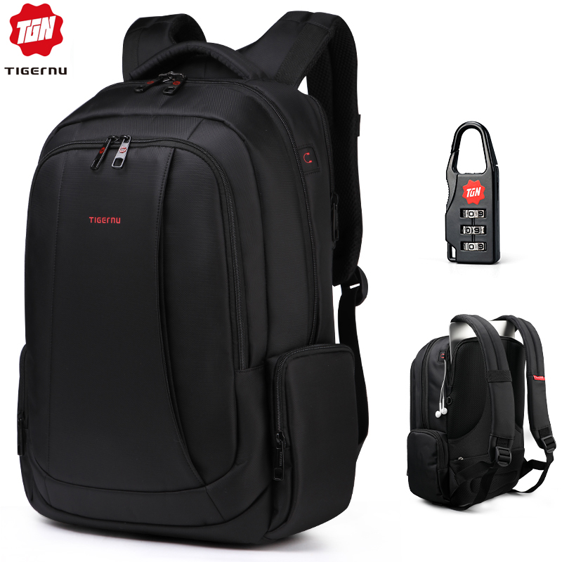 Tigernu Anti Theft Nylon 27L Men 15.6 inch Laptop Backpacks School Fashion Travel Male Mochilas Feminina Casual Women Schoolbag-in Backpacks from Luggage & Bags