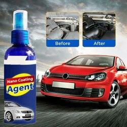 60ML Car Polish Nano Coating Agent Anti Scratch Hydrophobic Car Coating Spray Wax Cleaning Agent Car Wash Maintenance Tool TXTB1