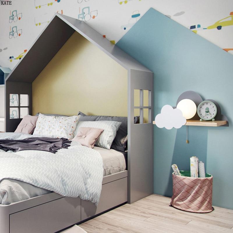 Cartoon Sun PVC Wall Lamp Bedoom Bedside Children/'s Room Light LED Wall Light