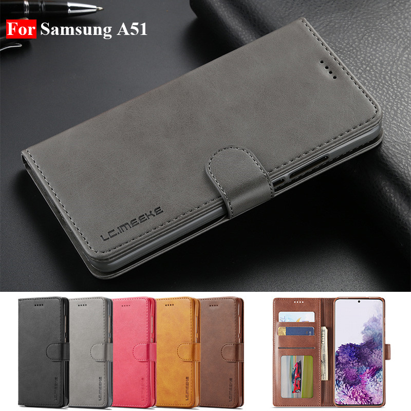 A51 Case For Samsung A51 Cases Leather Vintage Phone Case On Samsung Galaxy A51 Cases Flip Magnetic Wallet Cover A51 Wallet Bags