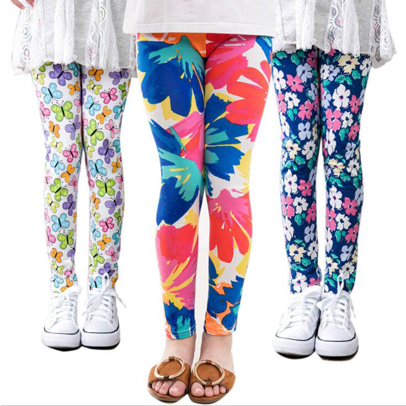 WKDS Kids Girls Full Length Stretchable Leggings Great Fit Sizes 7 to 13 Years