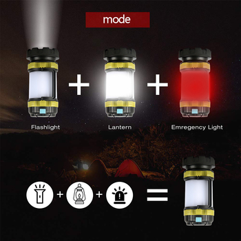 Camp Lamp LED Camping Light USB Rechargeable Flashlight Dimmable Spotlight Work Light Waterproof Searchlight Emergency Torch 5