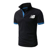 2021 New Summer Is The Boss Short-Sleeved Polo Shirt Men's Business Lapel Fashion Casual Slim Breathable Letters British Couple