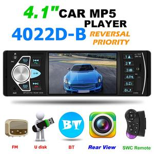4022D 1 Din Car Stereo Radio Bluetooth 4.1 Inch Autoradio MP5 Player AUX Radio Support Rear View Camera Steering Wheel Control