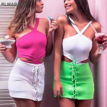 Sexy Criss-Cross Hollow Bodysuit Slim Sleeveless Backless Bodycon Romper Jumpsuit Night Club Women Top Casual