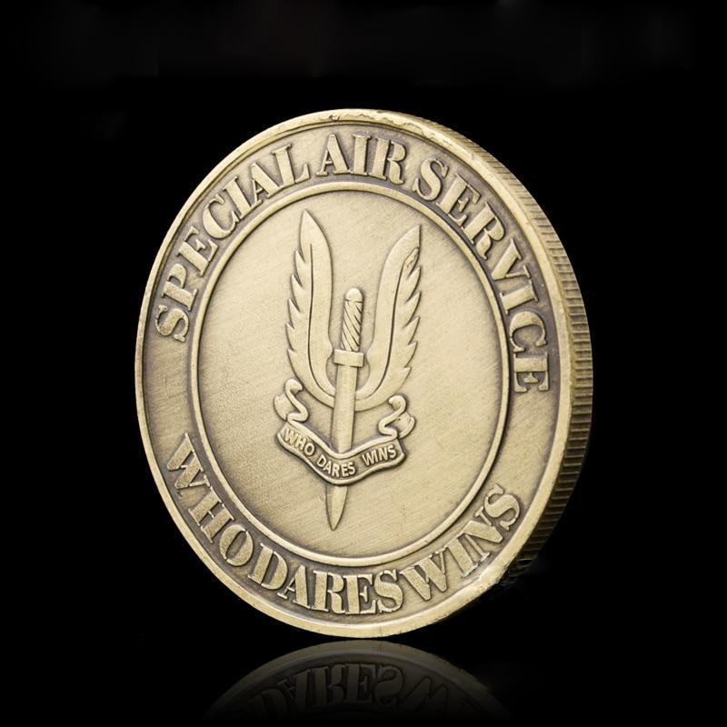 Британская армия SAS снайперская бронзовая памятная монета, которая осмеливается завоевать особую авиаслужбу военный вызов коллекционные п...