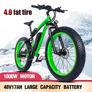 Image 2 - Electric bike 26*4.0inch Aluminum  electric Bicycle 48V17A 1000W 40KM/H 6Speed Powerful Fat Tire bike Mountain snow ebike