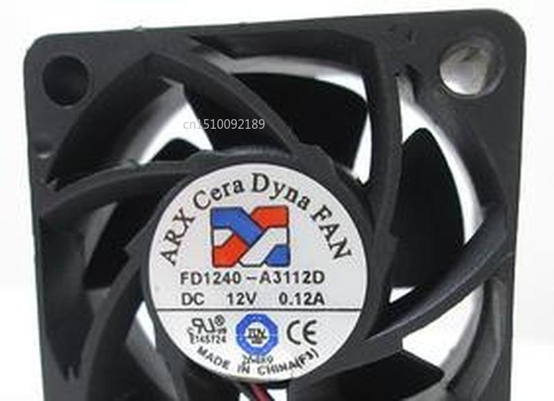 For ARX FD1240-A3112D 12V 0.12A 4CM 4020 2-wire Silent Cooling Fan Free Shipping
