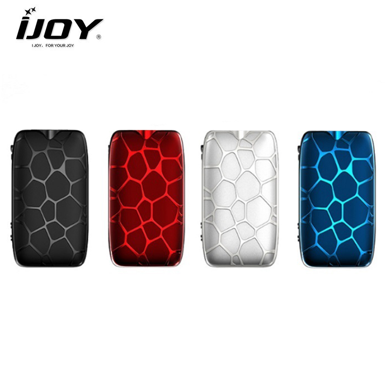 Original IJOY MYSTIQUE 162W TC Box MOD 0.91 Inch Display Output Vape Mod Firing Charging Fast By Dual 18650 E Cigarette Mod