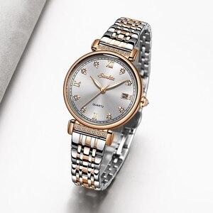 Image 3 - Sunktaニュー · ローズゴールド女性腕時計ビジネスクォーツ時計レディースtopブランドの高級女性腕時計時計レロジオフェミニン