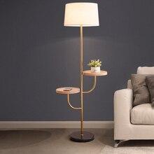 Modern wooden floor Lamps Nordic adjustable E27 LED 220V floor lights for living room study bedroom office