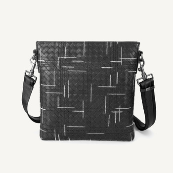 Men Shoulder Bag Handmade Embroidery Cowhide Genuine Leather Crossbody Bag High Quality Durable Bags For Male